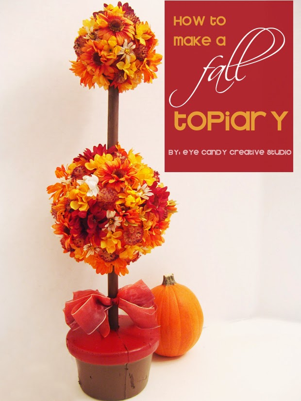 fall flowers, how to make a topiary, fall flower topiary