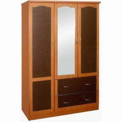 lemari-pakaian-minimalis-modern dengan kaca