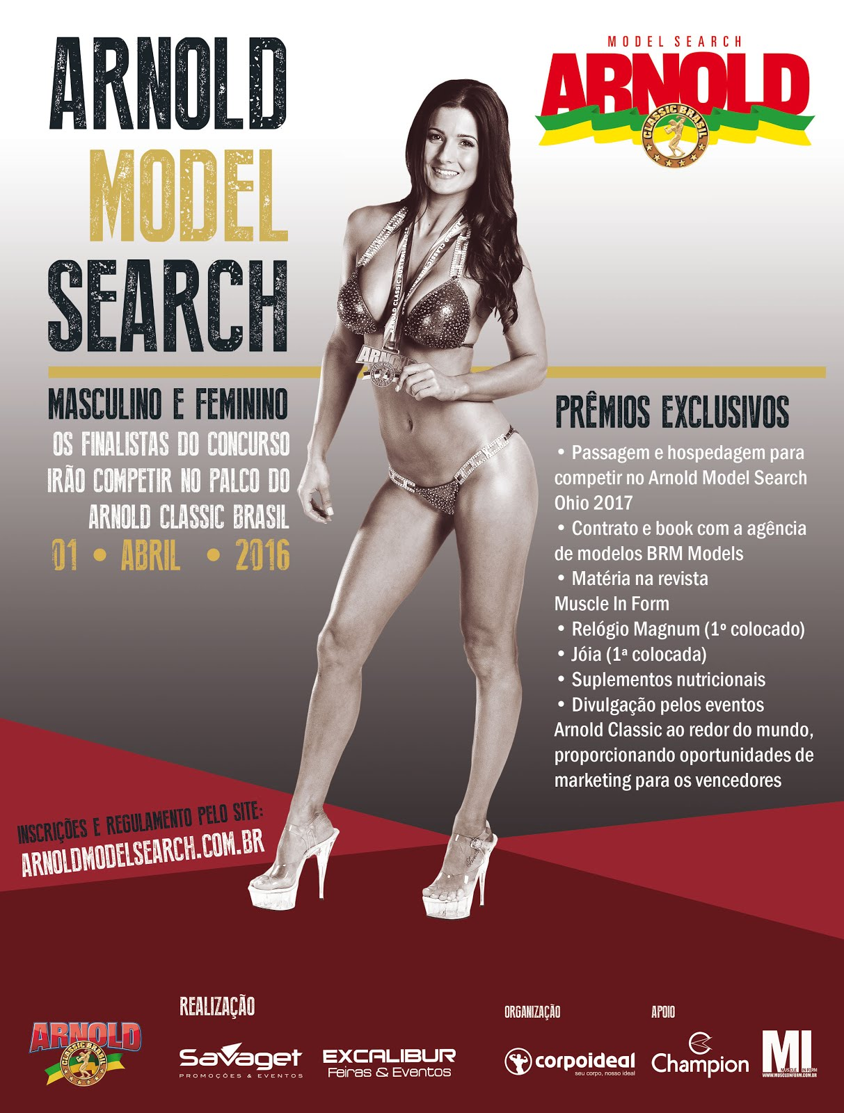 Model Search Arnold 2016 - Inscreva-se