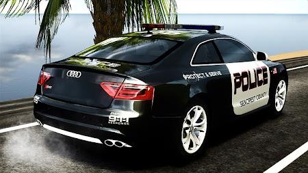 Audi S5 2007 Police para gta