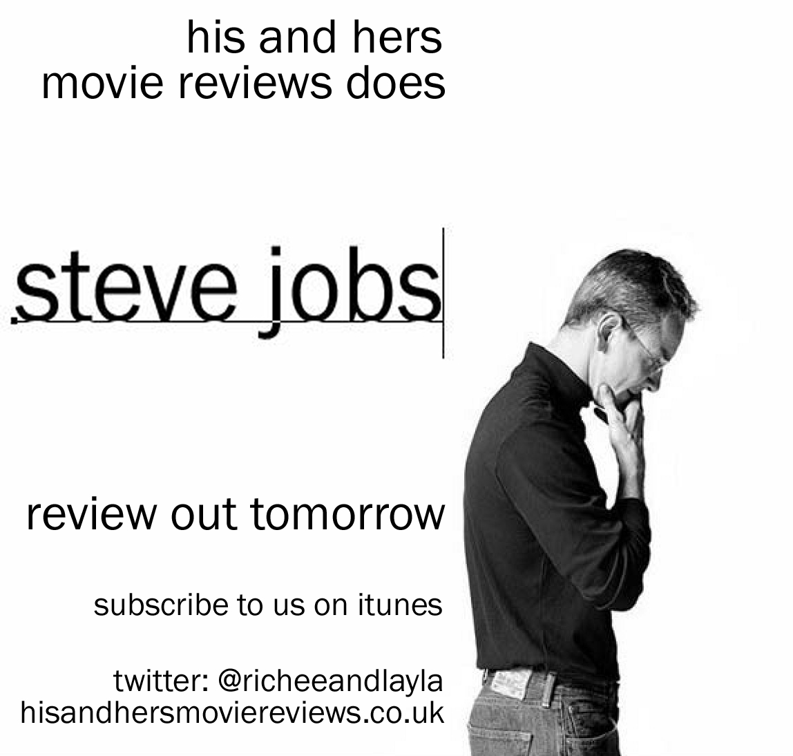 a review of the movie steve jobs Movie review: steve jobs (2015) 01 november 2015 | reviews | by yasmin kleinbart when the idea for a new steve jobs movie was announced, the general consensus was a giant eye roll 2012's jobs was a box office flop, resulting in people's reluctance to hear the ceo's story once more.