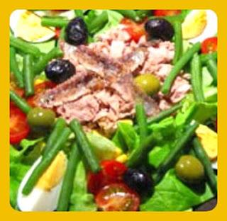 ensalada de atún con judías verdes  francesas