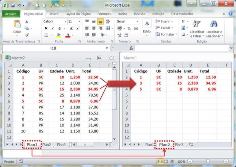 extrair, informações, relatório, vba, macro, excel, critério, filtro