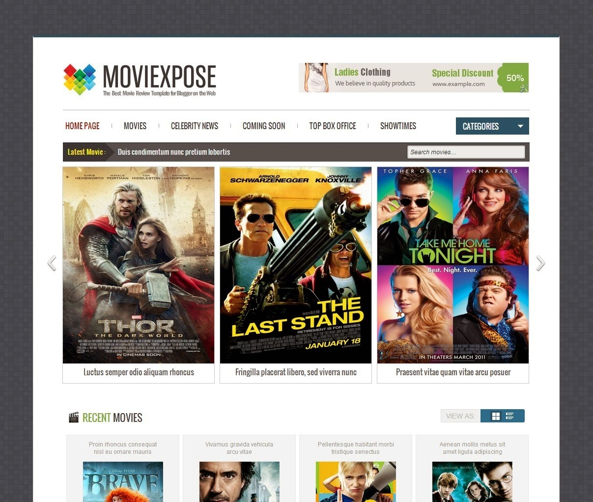 Moviexpose Responsive Blogger Template