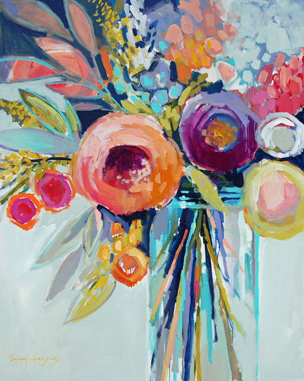 Southern arrondissement erin gregory for Pretty flower paintings