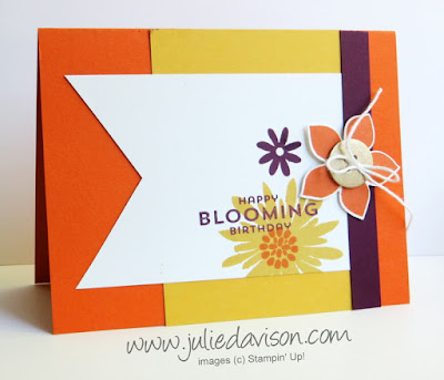 Stampin' Up! Flower Patch Birthday Card #stampinup www.juliedavison.com