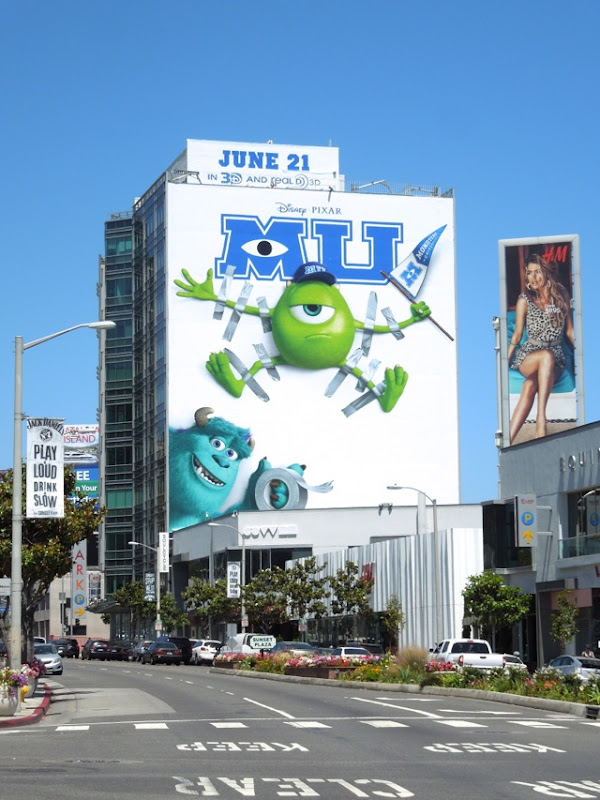 Giant Monsters University billboard sunset strip