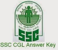 SSC CGL Tire 1 Answer Key Paper