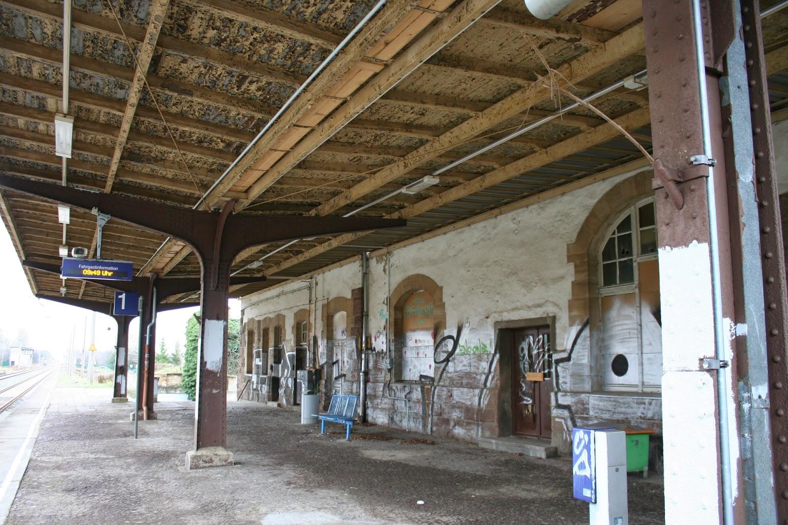 Bahnsteigüberdachung Bahnhof Miltitz