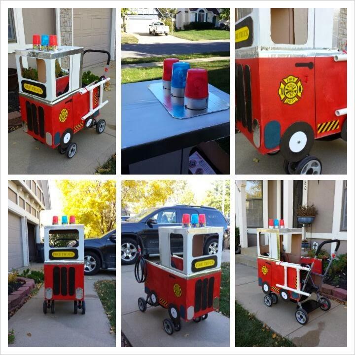 Halloween Fire Truck Halloween Fire Truck Stroller