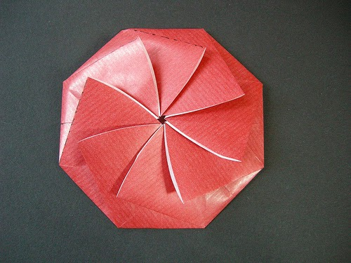 Origami Circle Paper Instructions Art And Craft Ideas