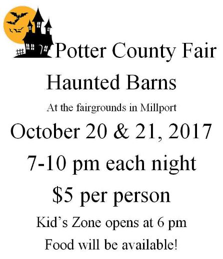 10-20/21 Potter County Fair Haunted Barns