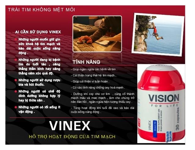 công dụng thực phẩm chức năng Vinex  Vision tăng hiệu quả tinh mạch