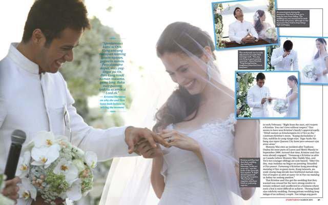 Oyo Sotto - Kristine Hermosa Wedding Features in STARSTUDIO Magazine ...