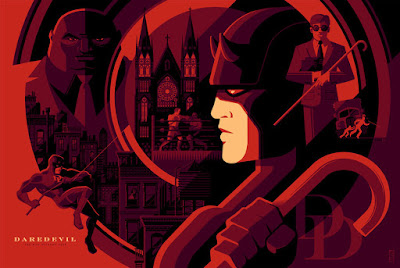 """Daredevil"" Standard Edition Marvel Screen Print by Tom Whalen"