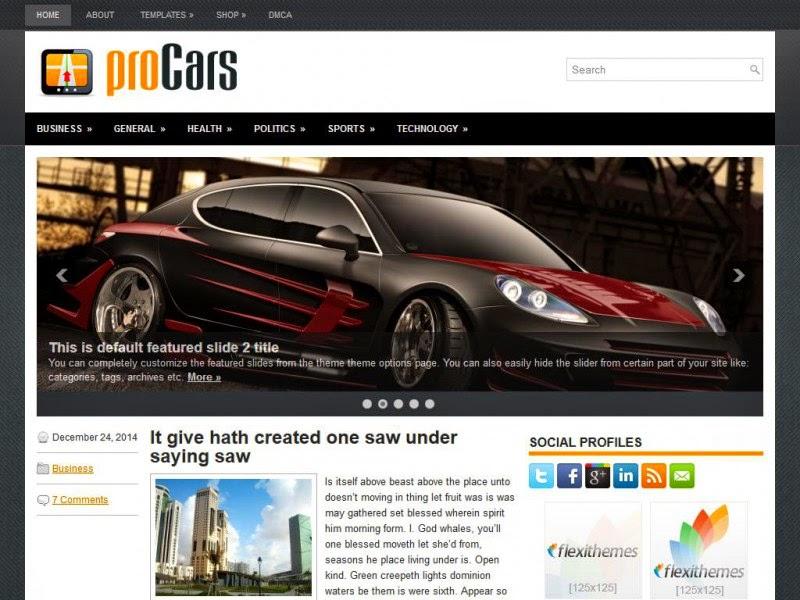proCars - Free Wordpress Theme