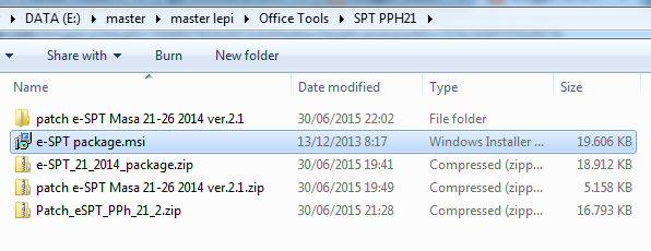 download aplikasi e-SPT PPH 21 Versi 2.1 Disini