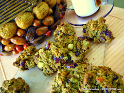 rustic NUT and FRUIT cookie SPELT rochers