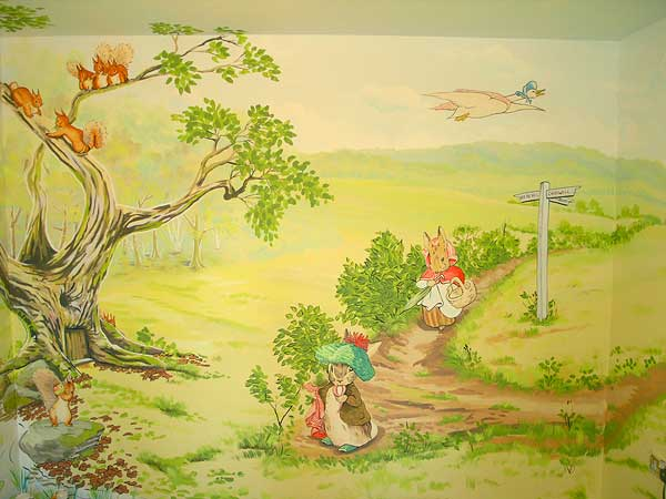 The styling game beatrix potter for Beatrix potter wall mural