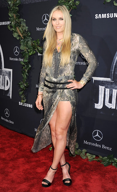 Women's alpine skiing @ Lindsey Vonn - 'Jurassic World' premiere in Hollywood