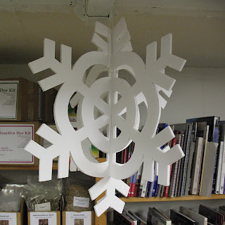 Snowflake decoration made from foamboard by Philippa Cousins
