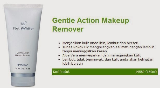 Gentle Action Make Up Remover Nutriwhite