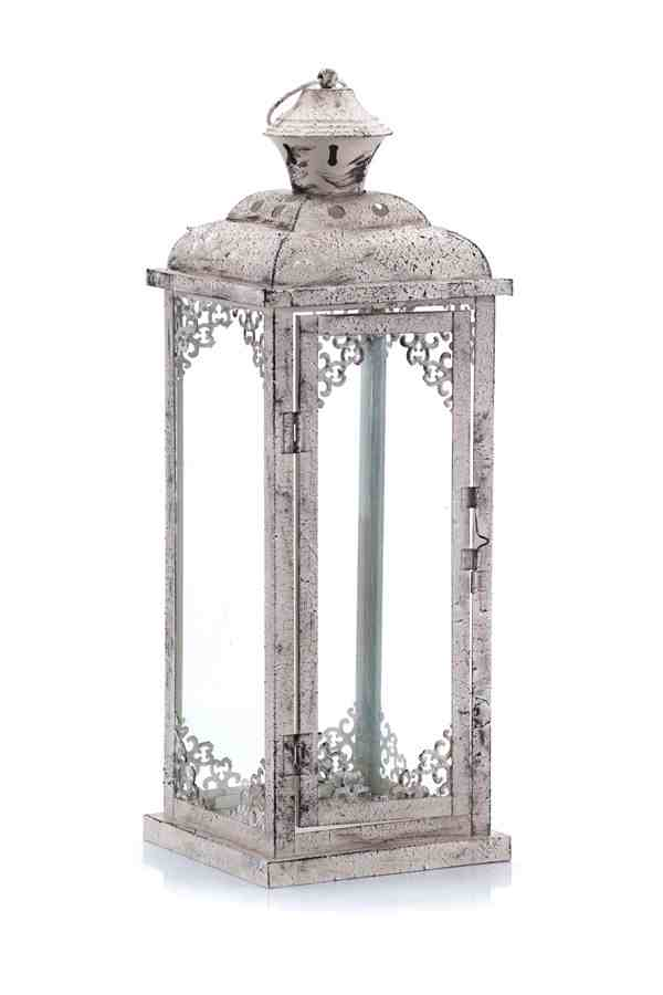 Metalowy lampion shabby chic