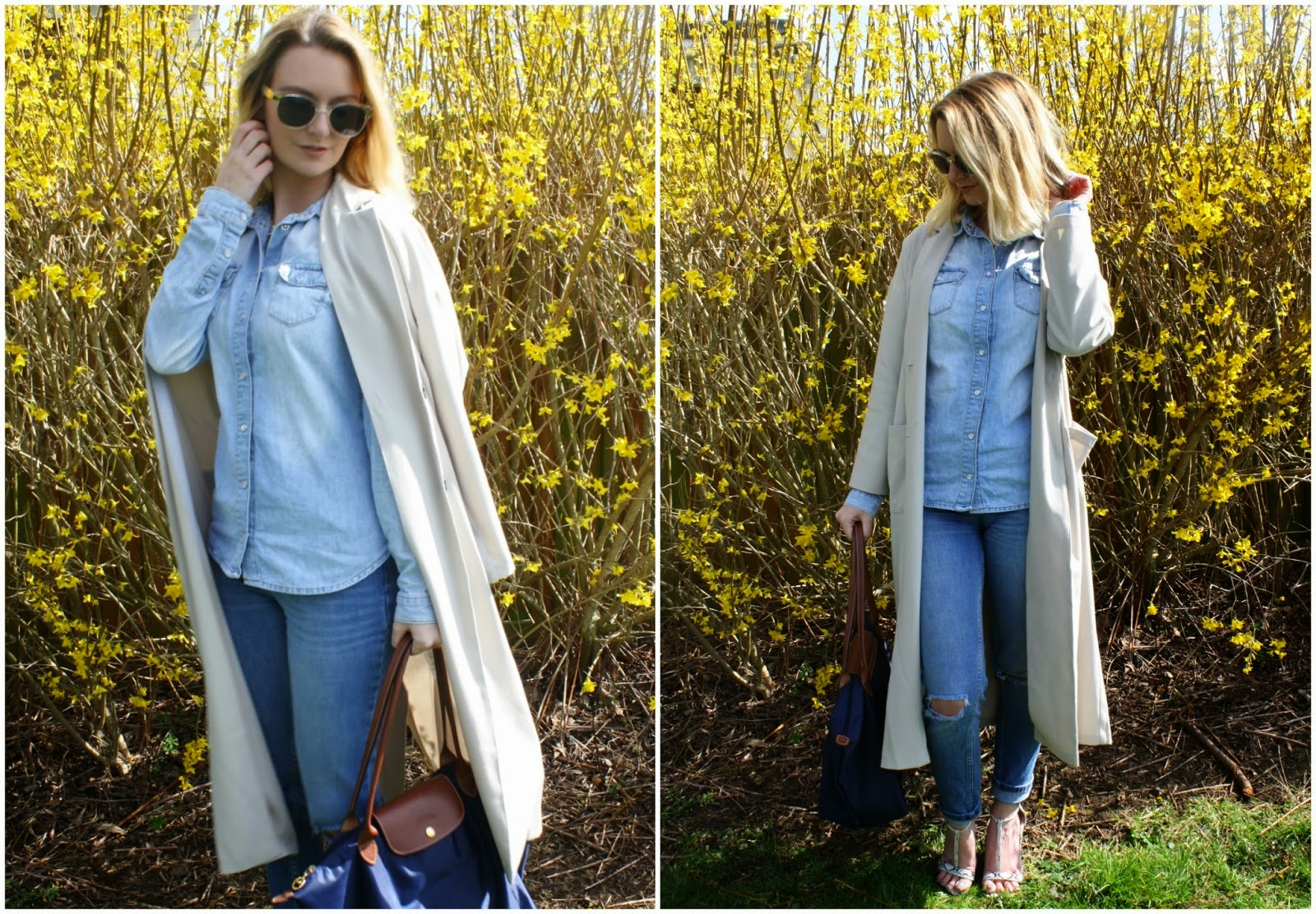 OUTFIT: Double Denim, fashion blogger, styling, stylist, denim, ss15 trends, style advice, mode madeleine, blogger, personal style, longchamp, olivia burton