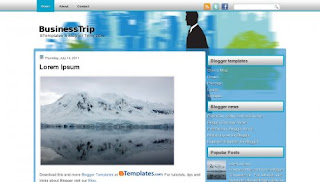 BusinessTrip Blogger Template