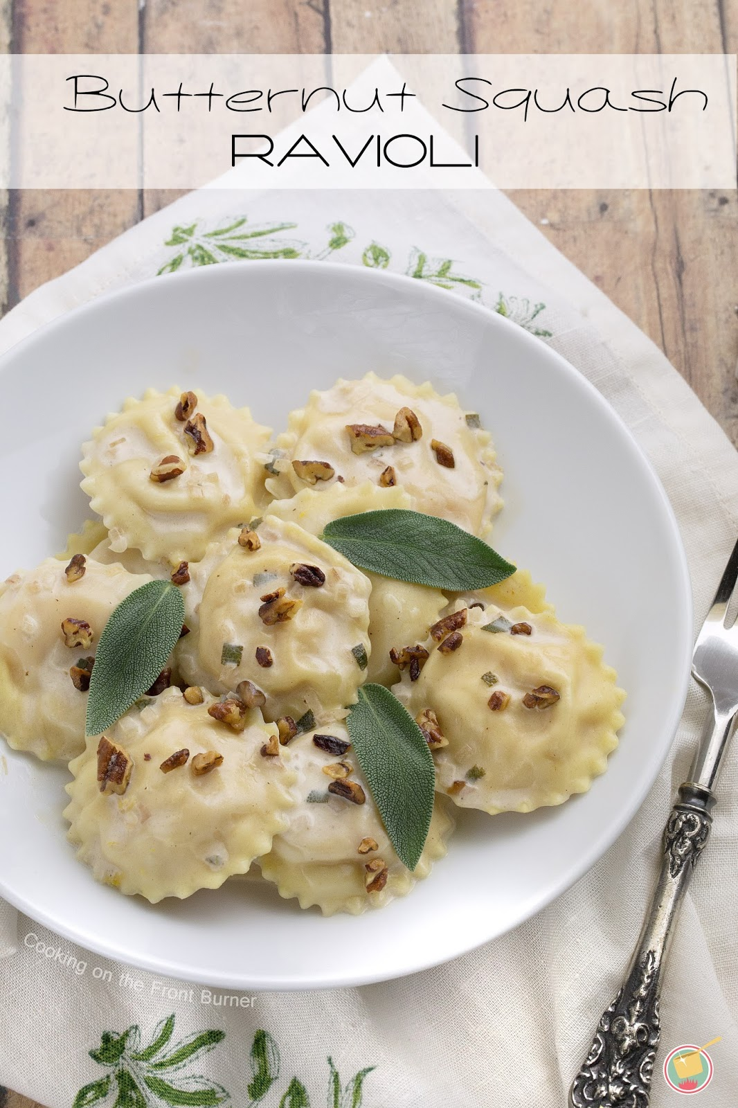 Butternut Squash Ravioli with a creamy sage sauce | Cooking on the ...