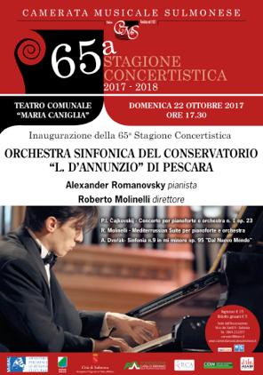 SULMONA - 65^ STAGIONE CONCERTISTICA CAMERATA MUSICALE SULMONESE