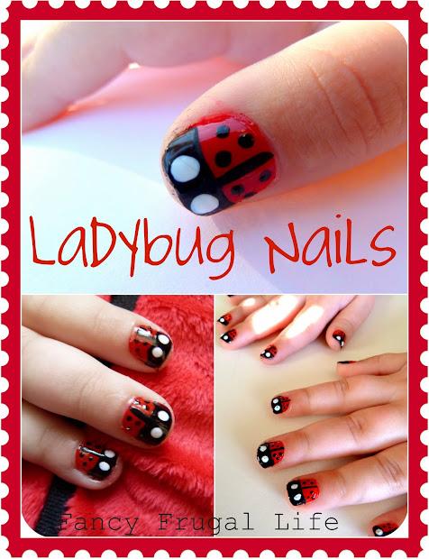 diy ladybug nails manicure