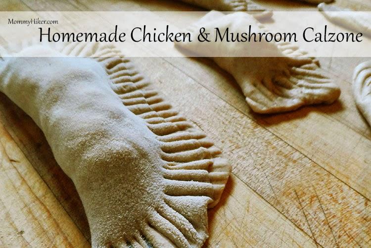 Homemade Chicken & Mushroom Calzone