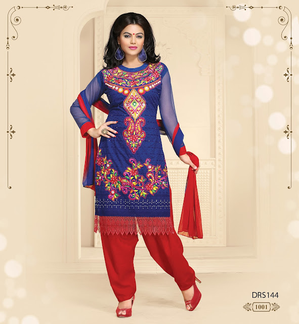 Patiala Style Suit Heavy Embroidered Salwar Kameez