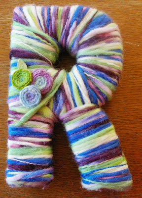yarn, wrapped, letter, yarn wrapped letter, tutorial, how to, how to make, diy, craft, pattern, word art