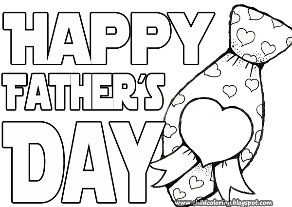 fathers day card coloring pages - photo#28