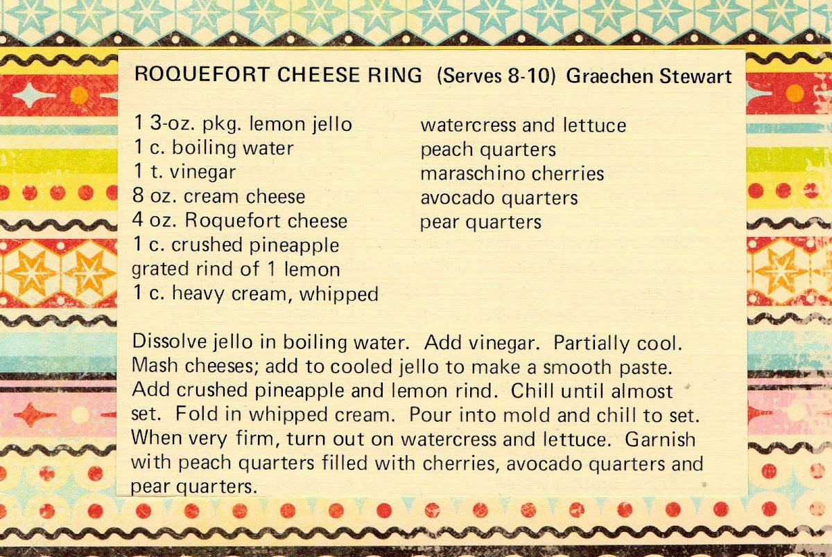 Roquefort Cheese Ring (quick recipe)