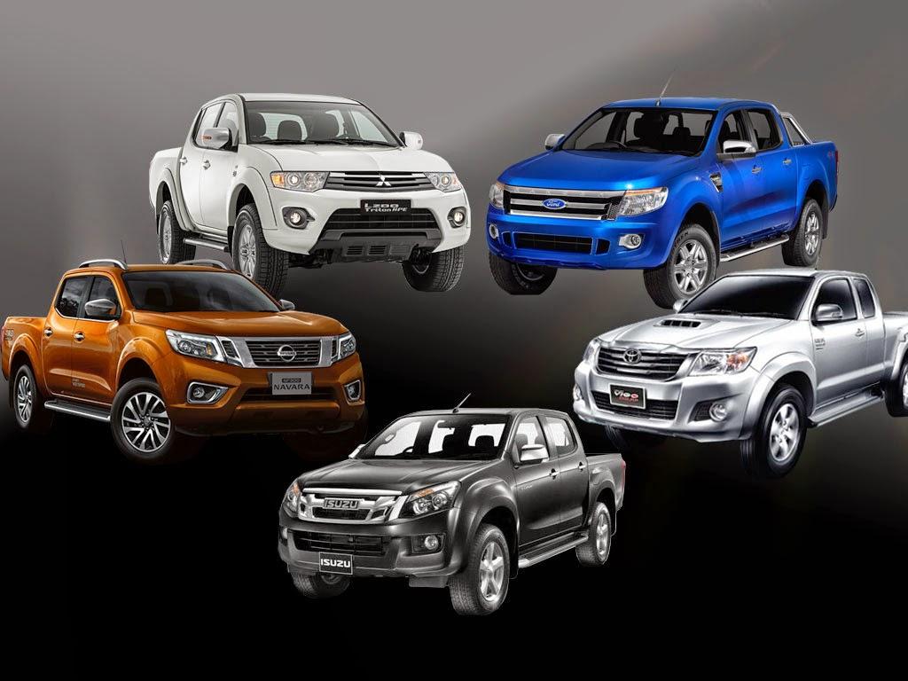 Isuzu D-Max,Mitsubishi Triton,Nissan Navara,Toyota Hilux,Ford Ranger