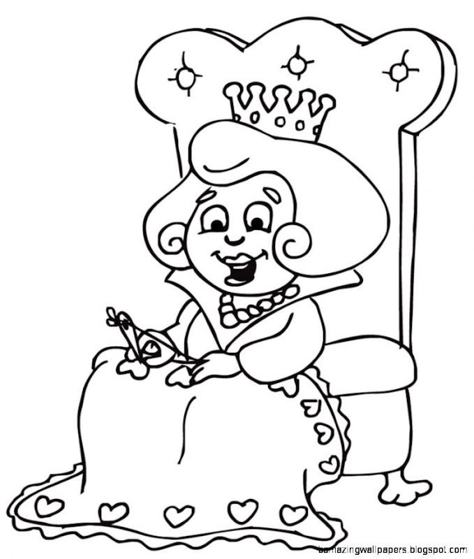 Queen Black And White Clipart   Clipart Kid