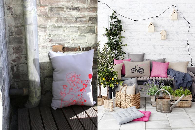 Decorar la casa con cojines de dise o maria victrix - Cojines para jardin ...
