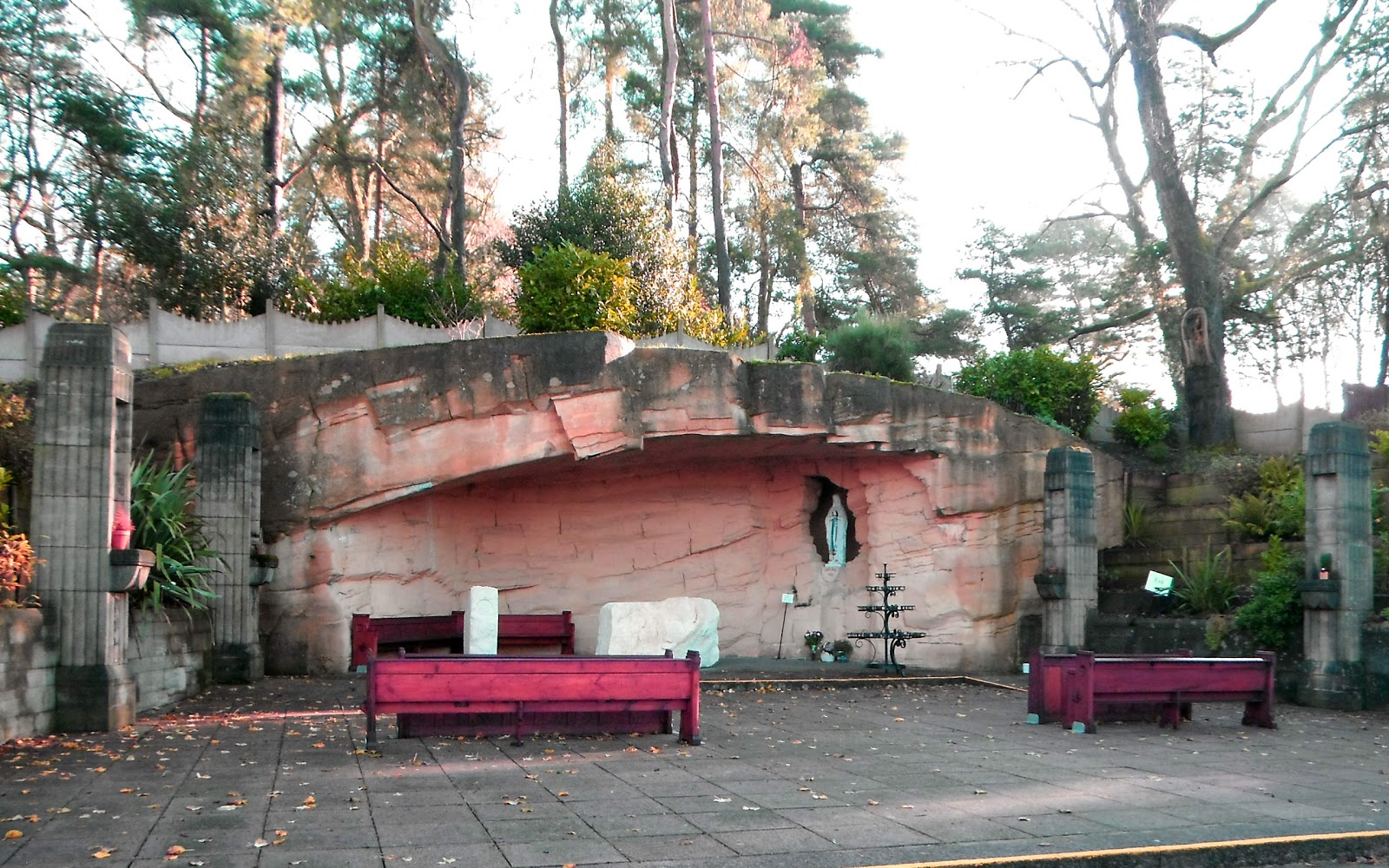 Copy of the Lourdes grotto at Our Lady Of Lourdes Church, Hednesford