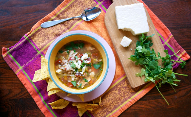 Slow Cooker Mexican Chicken Soup- simplelivingeating.com