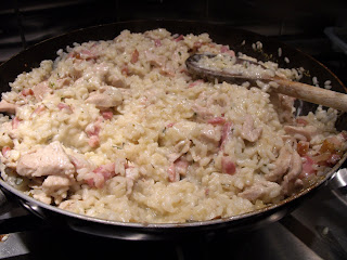 Forty minute meal - Chicken and bacon risotto