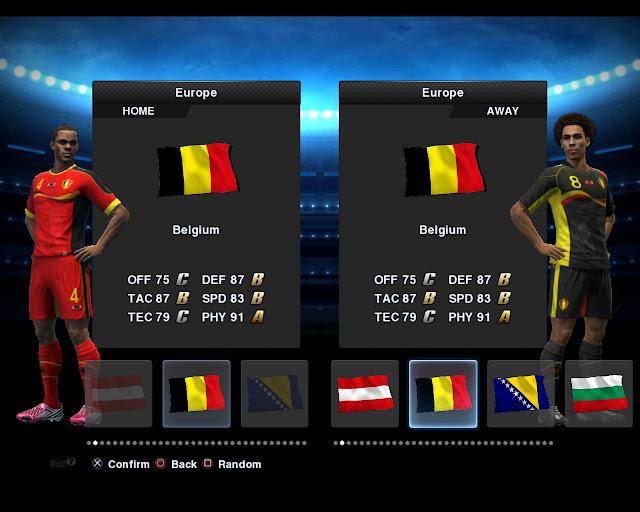 Bélgica 2012/13 Kitset - PES 2013