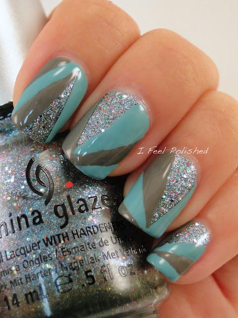 Glitter Starburst Nails