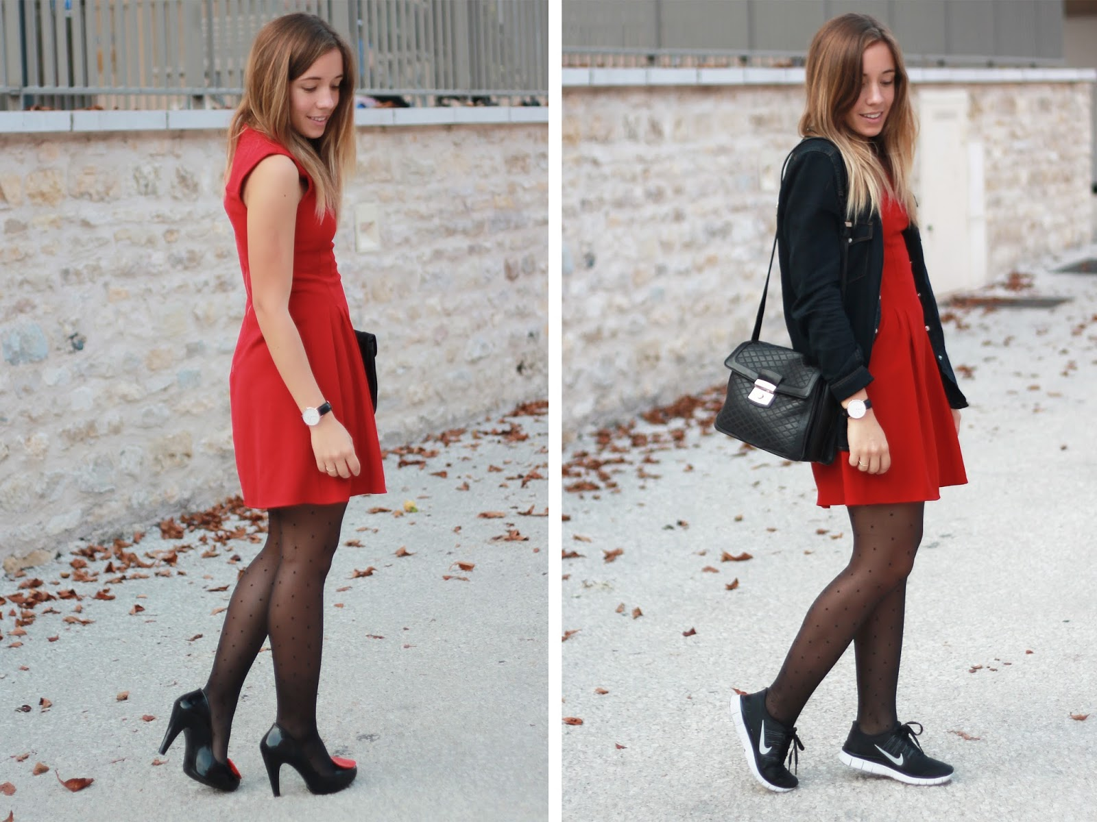 Robe rouge sans manches