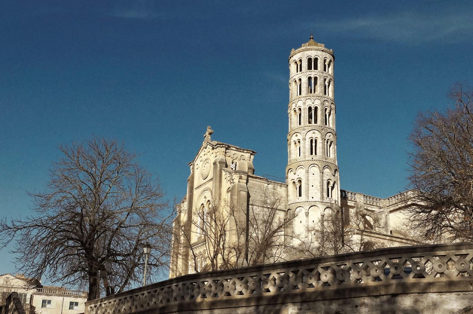 Uzès vue sur la tour fenestrelle