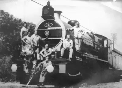 La 191, La Emperatriz, La veloz locomotora del Maquinista Francisco Savio, en FCGM desde 1916.