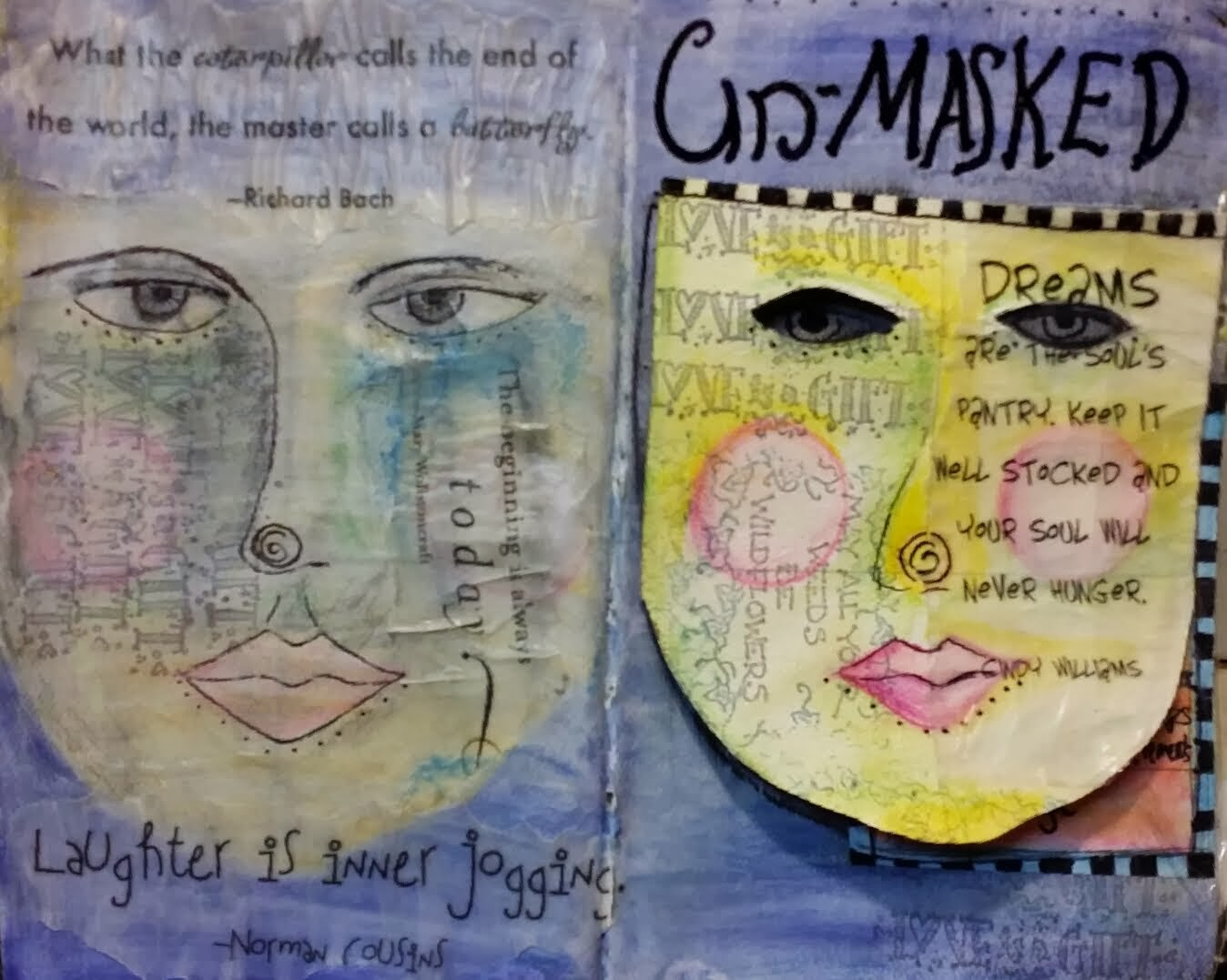 Un-Masked Art Journal Page