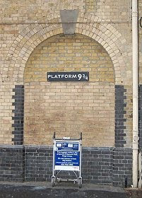 Platform 9 3/4, from http://en.wikipedia.org/wiki/File:KingsCross.JPG